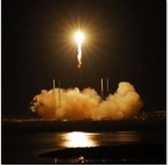 Great shot of Space X Dragon taking off from Cape Canaveral to the ISS (7Oct12).