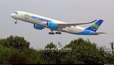 Air Caraibes Airbus A350-941XWB (registered F-HHAV) departing Paris-Orly (photo by MICHEL Charron)