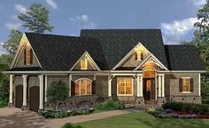 Plan W15884GE: Photo Gallery, Corner Lot, Craftsman, Ranch, Mountain House Plans & Home Designs