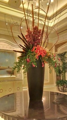 Fall floral arrangement at the Bellagio Hotel Convention Center. Las Vegas, NV. October 2013.