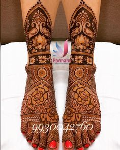 FOR CLASSES AND BRIDAL ORDER BOOKINGS, CONTACT ON +919930042760. #sabyasachi #bridalhenna #sabyasachibride #makeupartist #wedding… Arabic Bridal Mehndi Designs, Wedding Henna Designs, Engagement Mehndi Designs, Indian Mehndi Designs, Stylish Mehndi Designs, Beautiful Mehndi Design, Bridal Henna, Leg Mehendi Design, Leg Mehndi