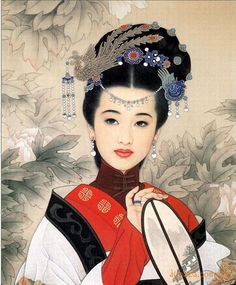 by Zhao Guo Jing & Wang Mei Fang 赵国经王美芳工笔仕女画