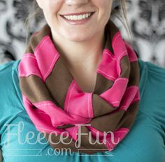 Learn how to make a chevron pattern and turn it into an infinity scarf.