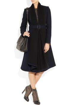 Burberry | Wool-crepe coat | NET-A-PORTER.COM