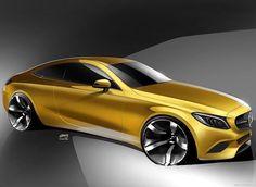 Mercedes Coupe Sketch Design