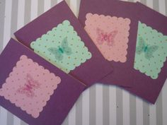 Spring Butterfly Mauve Taupe Blank Folded Cards by urbaneprincess, $8.00