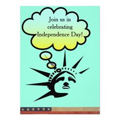 Lady Liberty Card #StatueOFLiberty #Statue #Liberty #USA #America #Holiday #Independence #Celebrate #Invitation #Card