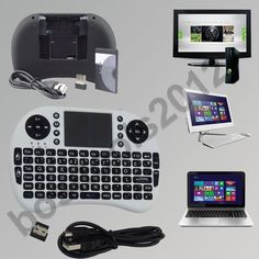 New 2.4G Wireless Mini Keyboard Mouse Touchpad Laptop PS3 Xbox 360 PC TV BOX  UK