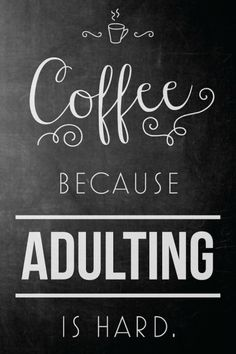 Coffee Because Adulting is Hard Quote Faux Gold Foil by SarasPrints. Quote gift … Coffee Because Adulting is Hard Quote Faux Gold Foil by SarasPrints. Quote gift printable poster canvas home decor gallery wall gold foil Coffee Is Life, I Love Coffee, My Coffee, Coffee Drinks, Coffee Cups, Coffee Enema, Coffee Menu, Coffee Lovers, Happy Coffee