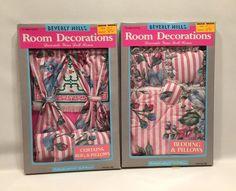"11 1/2"" Doll House Flower Decorations Bedding Pillows Curtains Rug Beverly Hills #SkyKids #1826"