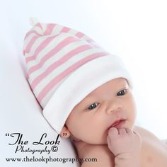 Knitted baby cap.. Make in blue for boys and pink for girls.  I found this on www.melondipity.com