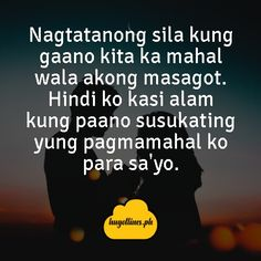 Tagalog Love Quotes - May Nagugustuhan ka ba ngayon? Love Quotes For Her, Quotes For Him, Love Qutoes, Quotes Distance, Tagalog Love Quotes, Hugot Lines, Line Love, English Translation, Pick Up