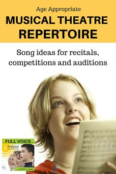 Age appropriate repertoire is a MUST for young singers performing in recitals, competitions and auditions. There are some GREAT suggestions here - both new and old. A great interview with a professional voice coach and accompanist who works in the industry.