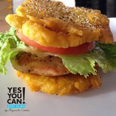 Stuffed Patacon a Yes You Can Diet Plan Lunch Recipe