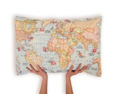 Pillow Cover [World Map]