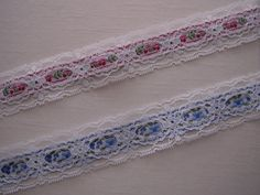 LAVENDER~3 Inch Wide Floral Flat Lace Trim~By 5 Yards