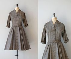 1950s Marled Tweed dress | http://www.etsy.com/listing/96479874/50s-dress-1950s-dress-marled-tweed-dress    #vintage #etsy