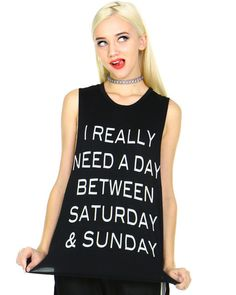 REALLY NEED A DAY TEE at Shop Jeen - SHOP JEEN