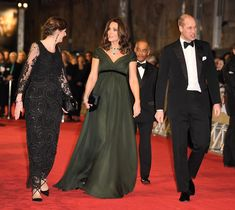 Kate Middleton Hits the Red Carpet in Deep Green Amid BAFTA's Time's Up All-Black Dress Code