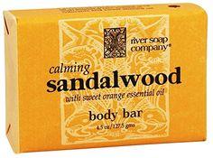 River Soap Co. Sandalwood Soap Triple Milled All Vegetable 4.5 oz/www.amazon.com.