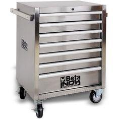 Beta Tools 7 Drawer Stainless Steel Rolling Tool Box C04