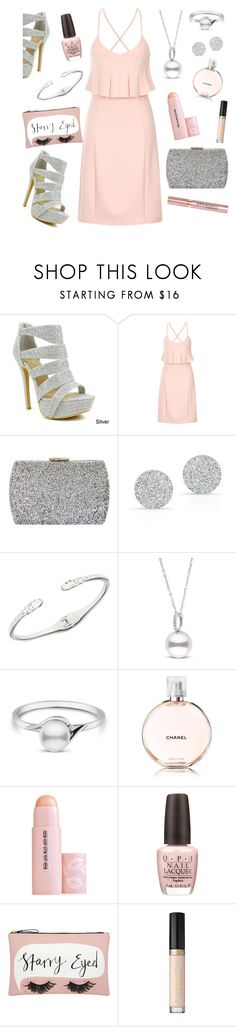 """Girls night out"" by xkanelx ❤ liked on Polyvore featuring Celeste, Lavish Alice, Natasha, Anne Sisteron, Givenchy, Chanel, Buxom, OPI and Accessorize"