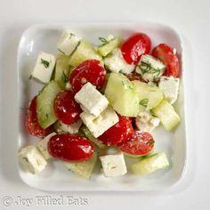 Simple Greek Salad - Low Carb, Grain Free, THM S - Joy Filled Eats