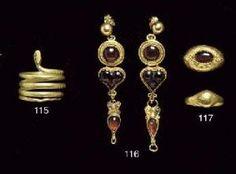 Греческое золото и гранат КОЛЬЦА ПЕРСТА by adela