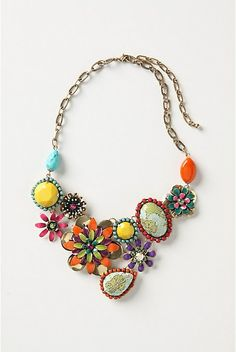 Wouldn't it be fun to make something like this out of all Grama's brooches?