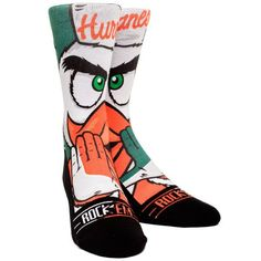 Miami Hurricanes Youth Mascot Crew Socks