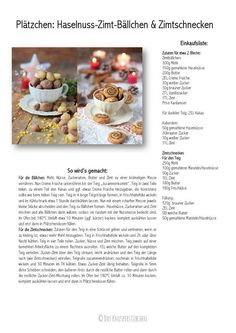 Haselnuss-Zimt-Bällchen & Zimtschnecken - Hazelnut Cinnamon and Cinnamon Roll Cookies