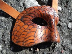 Steampunk leather half mask by BarloggsWorkshop on Etsy