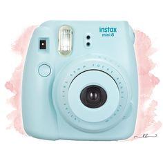 Instax mini 8 polaroid camera blue at TanyaBrittany shop