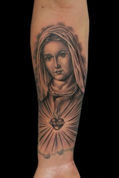 """Sacred Heart of Mary"" by Jhon Gutti : Tattoos"