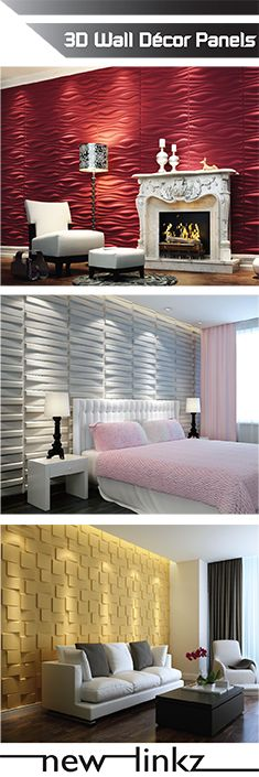 threeDwall Panels bring affordable elegance into any room. Made of natural plant fibers, these panels can be used to build breath taking feature walls and wainscots, cover damaged walls or enhance the look of your ceilings. Panels are very easy to trim and paint. Combination of design and color will add a new dimension to any traditional, contemporary or transitional rooms.