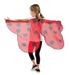 Alpi Fabric Ladybug Wings - Magic Cabin (amazing US toy store) - Ladybug Costume, Ladybug Party, Fabric Butterfly, Butterfly Wings, Lady Bug, San Antonio, Little Cabin, Toy Store, Kids Wear