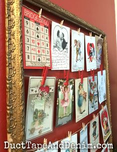 How to Display a Vintage Valentine Postcard Collection Vintage Valentine Cards, Vintage Cards, Vintage Postcards, Postcard Display, Postcard Wall, Valentines Day Decorations, Valentine Day Crafts, Valentine Ideas, Living Vintage