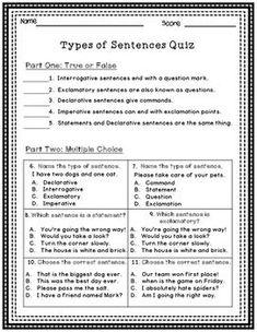 types of sentences with punctuation worksheet board pinterest punctuation. Black Bedroom Furniture Sets. Home Design Ideas