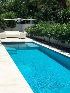 Got a small backyard? Make a small backyard pools that fits the size and dimensions of your backyard and cool. The best Small Inground Pool Ideas are . Pool Spa, Small Swimming Pools, Swimming Pools Backyard, Swimming Pool Designs, Lap Pools, Pool Decks, Small Yard Pools, Pools Inground, Indoor Pools