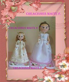 FOFUCHAS. Manualidades y Creaciones Maite: FOFUCHA NIÑA COMUNION TAMAÑO EXTRA GRANDE Personalizada