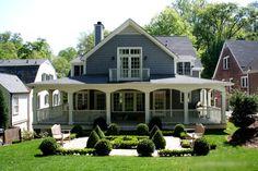 love the wrap-around deck. My dream house minus the city location.