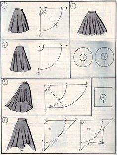 Sewing model DIY long skirts