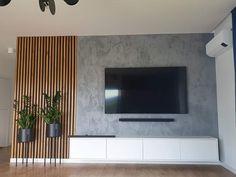 Living Room Tv Unit Designs, Home Design Living Room, Home And Living, Living Room Decor, Modern Tv Room, Modern Tv Wall Units, Feature Wall Living Room, Living Room Inspiration, House Rooms