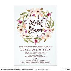 Whimsical Bohemian Floral Wreath Bridal Brunch