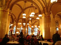 """See 4043 photos from 19682 visitors about lively, café, and authentic. """"One of the oldest cafe's in Vienna. If you like cake and coffe, this is the. Vienna, Cafe Central, Old Things, Chandelier, Ceiling Lights, Architecture, City, Arquitetura, Candelabra"""