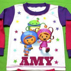 Team Umizoomi Girl Personalized Pajama Fuchsia and Purple