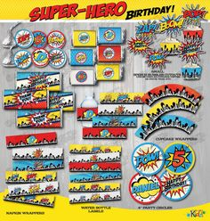 Superhero Party Favor Tags ONLY Printable by ItsAllAboutKidz