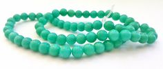 15 Inch Strand of Turquoise Colored Malay Jade Gemstone Beads!!  6mm in Size.  68 Gorgeous Beads.  Feminine and Unique!!  Great Beads!! by FunkyCreativeJuices on Etsy