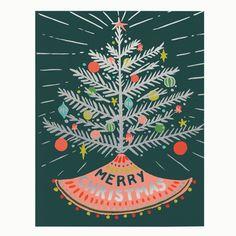 Aluminum Tree Card Set by Idlewild Co.
