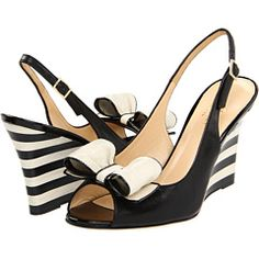 Kate Spade New York Cary Black Nappa/Patent/Cream Nappa - Zappos Couture - via http://bit.ly/epinner